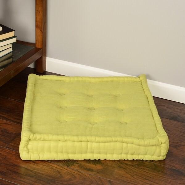 Square Tufted Floor Pillows : Blazing Needles 25-inch Square Corded Floor Pillow with Button Tufts - 15725764 - Overstock.com ...