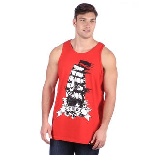 CYL Apparel Men's 'Pirate' Red Tank Top