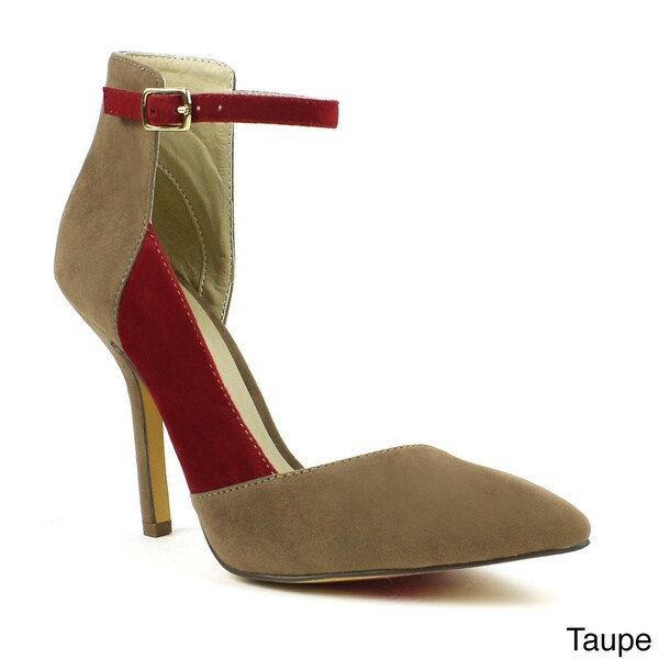 Fahrenheit Women's 'Miley-03' D'orsay Color-blocked Heels