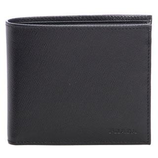 Prada Black Saffiano Leather Bi-fold Wallet