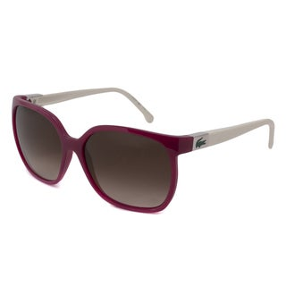 Lacoste Women's L508S Rectangular Sunglasses with Plastic Temples