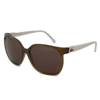 Lacoste Women's L508S Rectangular Sunglasses with Plastic Frame