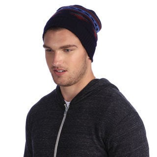 Muk Luks Men's Stripe Pattern Cuffed Cap