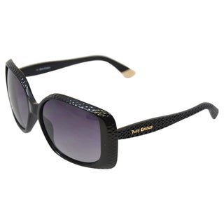Juicy Couture Women's '530/S 0D28' Black Rectangular Sunglasses