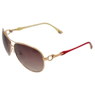 Juicy Couture Women's 'Beach Bum/S 0JHM' Gold Aviator Sunglasses
