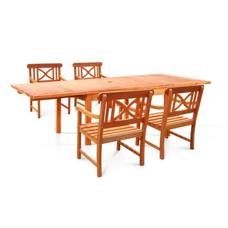 Bana Dining Set with Large Rectangular Table and Armchairs