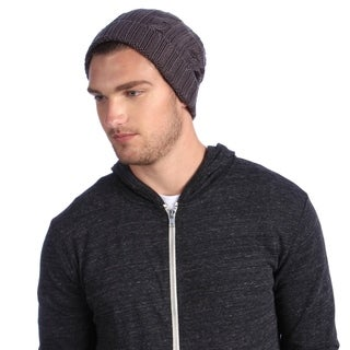 Muk Luks Men's Grey Knit Cable Cuffed Hat