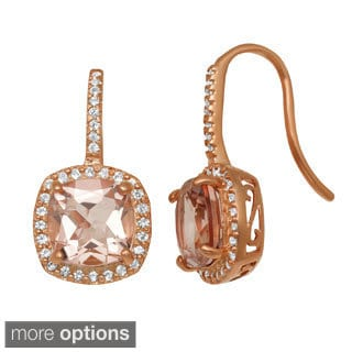 Gioelli Jenne Rose Goldplated Silver Simulated Morganite and Created Sapphire Earrings