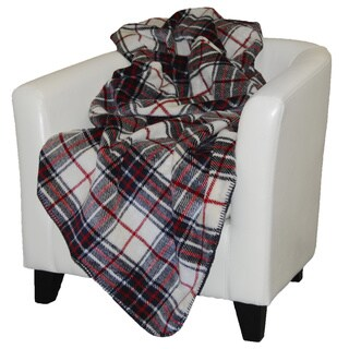 Denali Navy Plaid Throw Blanket