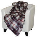 Denali Navy Plaid Throw Blanket