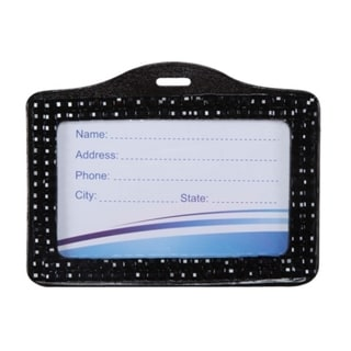 BasAcc Black Horizontal Business Card Holder Style 001