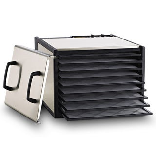 Excalibur Dehydrator 9-Tray Stainless Steel Dryer with Plastic Trays