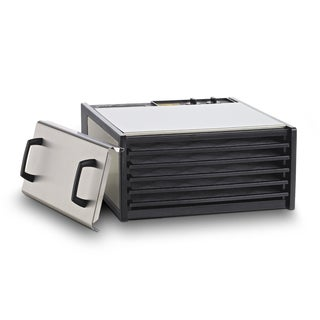 Excalibur Food Dehydrator 5-Tray Stainless Steel Dryer with Plastic Trays