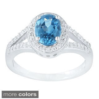Icz Stonez Sterling Silver Cubic Zirconia Oval Ring