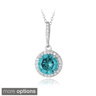 Icz Stonez Sterling Silver Cubic Zirconia Round-cut Necklace