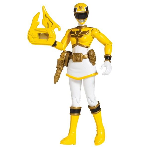 Bandai Power Rangers Yellow Ranger 4-inch Action Figure 11844539