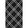 Safavieh Hand-woven Moroccan Dhurries Black/ Ivory Wool Rug (2'6 x 4')