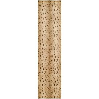 Safavieh Hand-knotted Tibetan Animal-pattern Beige Wool Rug (2'6 x 10')