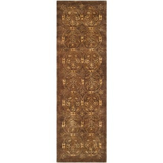 Safavieh Handmade Taj Mahal Olive Wool Rug (2'6 x 8')