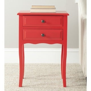 Lori Red Accent Table