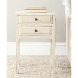 Lori Antique White Accent Table