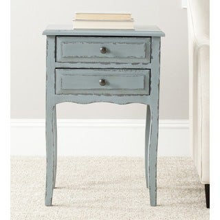 Lori Distressed Pale Blue Accent Table