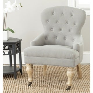 Safavieh Falcon Granite Linen Fabric Arm Chair