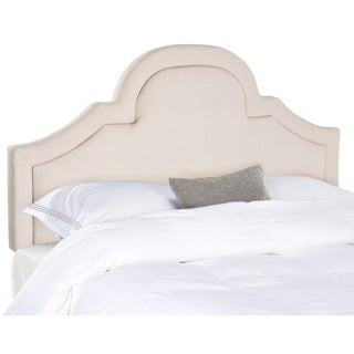 Kerstin Taupe Linen Fabric Arched Headboard (Full)