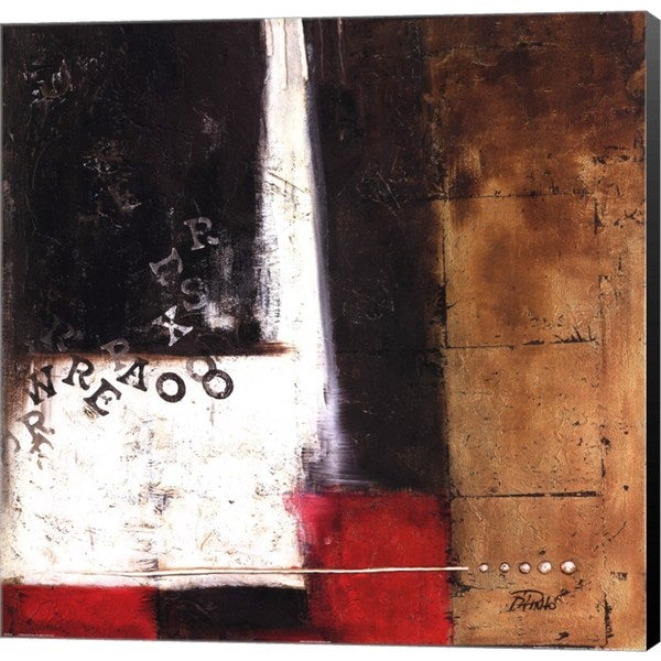 Patricia Pinto 'Red Contemporary IV' Canvas Art