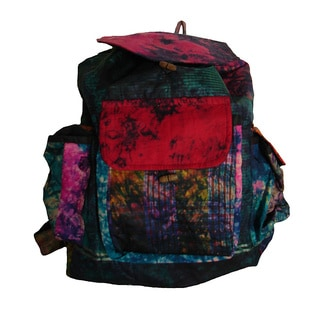 Handcrafted Silk Tie-dye Back Pack (Nepal)