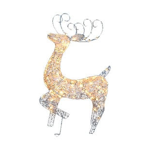 Standing Deer Lawn Ornament and 100 Mini Lights