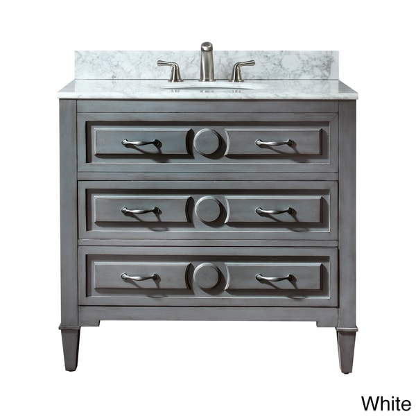 Avanity Kelly  Inch Single Vanity In Grey Blue Finish With Sink And