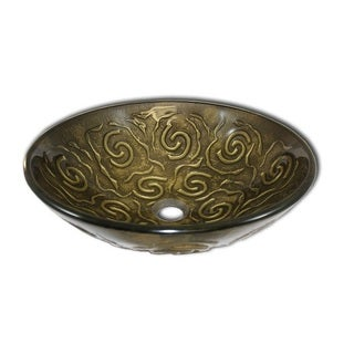 Flotera Modern Glass Vessel Bathroom Sink