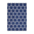 Hand-made Mazarin Blue Wool Rug (8' x 10')