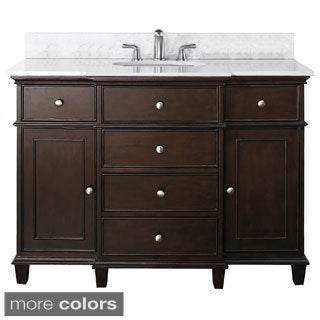 Avanity Windsor 48-inch Single Vanity in Walnut Finish with Sink and Top