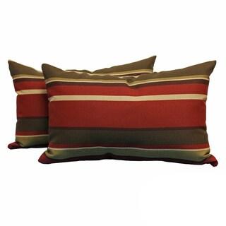 Blazing Needles Zippered with Insert 12 x 20 Rectangular Throw Pillows (Set of 2)