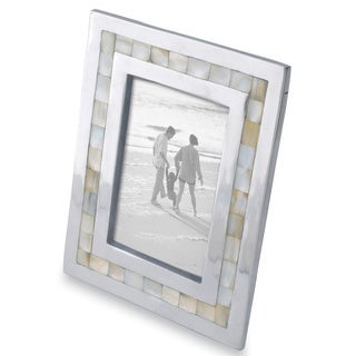 "Mother of Pearl Inlayed Aluminum Frame (5""x7"")"
