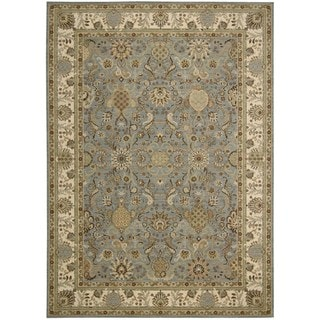 kathy ireland by Nourison Lumiere Slate Blue Rug (7'9 x 10'10)