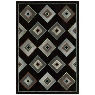 kathy ireland Palisades Architectural Retro Black Area Rug by Nourison (8' x 10'6)