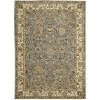 kathy ireland Home Lumiere Slate Blue Rug (5'3 x 7'5)