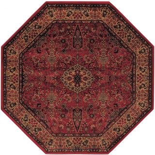 Everest Ardebil/ Crimson Power-loomed Area Rug (3'11 Octagon)
