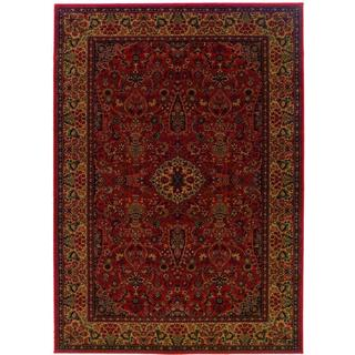Everest Ardebil/ Crimson Power-loomed Area Rug (7'10 x 11'2)