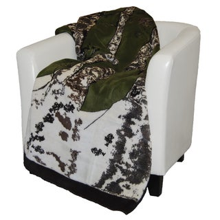 Denali Green and Chocolate Birch Tree Throw Blanket