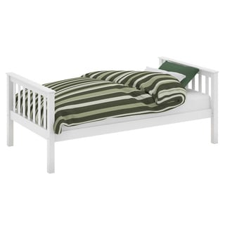 Single Monterey White Wood Bed