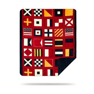 Denali Nautical Flags Throw Blanket