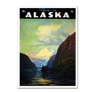 Vintage Apple Collection 'Trav Alaska' Canvas Art