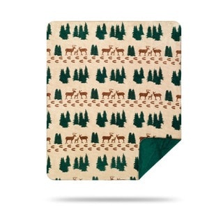 Denali Deer Tracks Throw Blanket