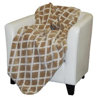 Denali Cashew Tan Lattice Throw Blanket