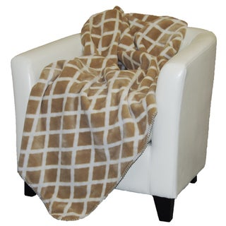 Denali Cashew Tan Lattice Throw Blanket