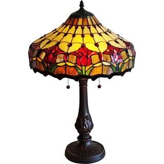 Amora Lighting Tulips Design Tiffany Style Table Lamp